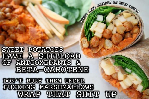 Thug Kitchen Sweet Potato Wraps