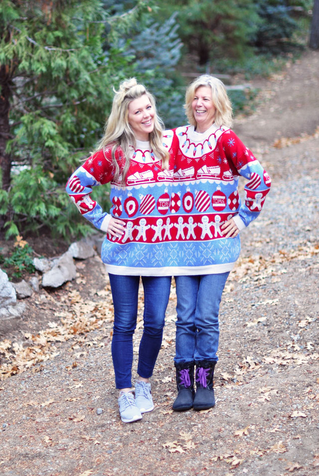 ugly holiday sweater-two headed holiday sweater