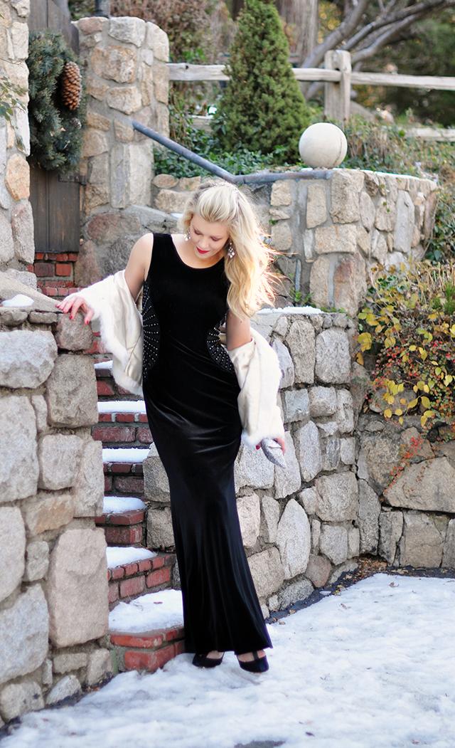velvet-floor-length-dress-with-beading-detail