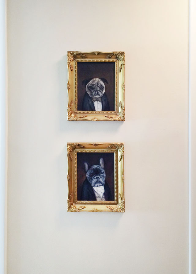 victorian dog portraits-pug-frenchie