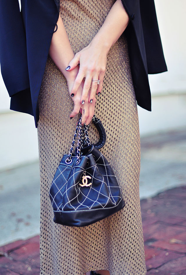 vintage chanel bag -quilted bucket