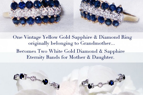 vintage diamond -sapphire gold ring