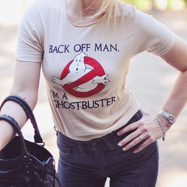 vintage ghostbusters tshirt