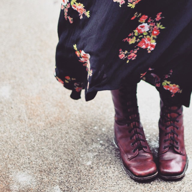 vintage lace up boots
