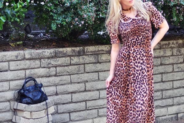 vintage leopard dress