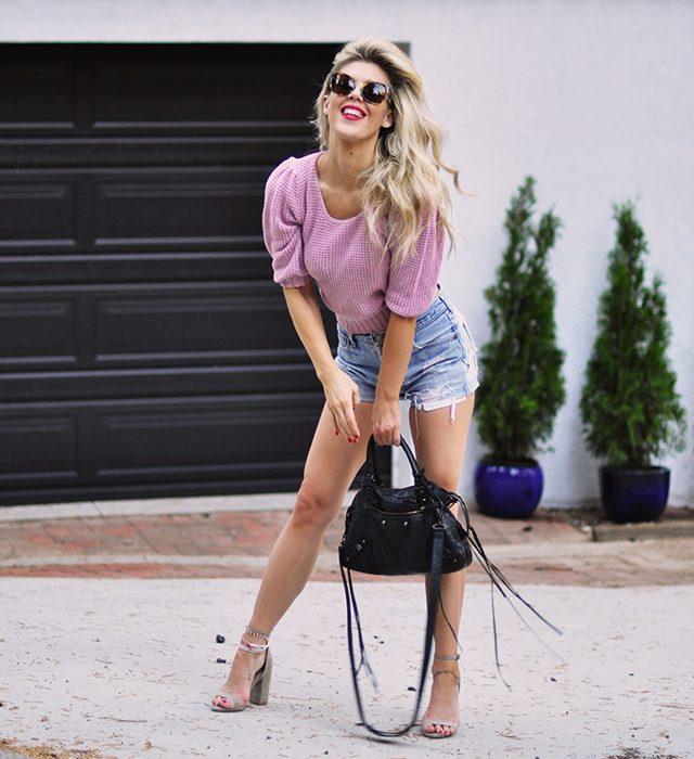 vintage summer style_high waist cutoff shorts_vintage levis