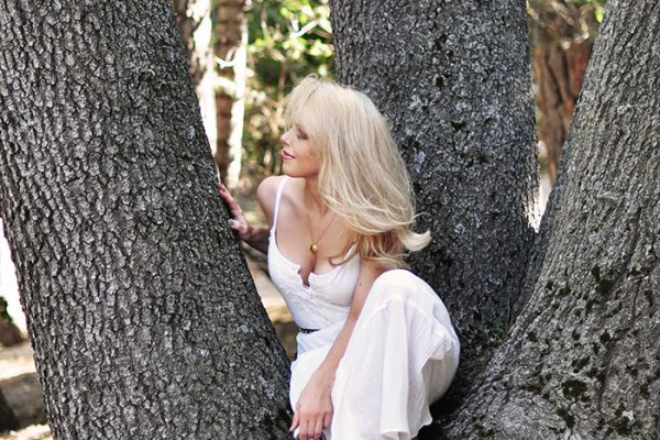 white maxi dress-sitting in a tree - love maegan tintari