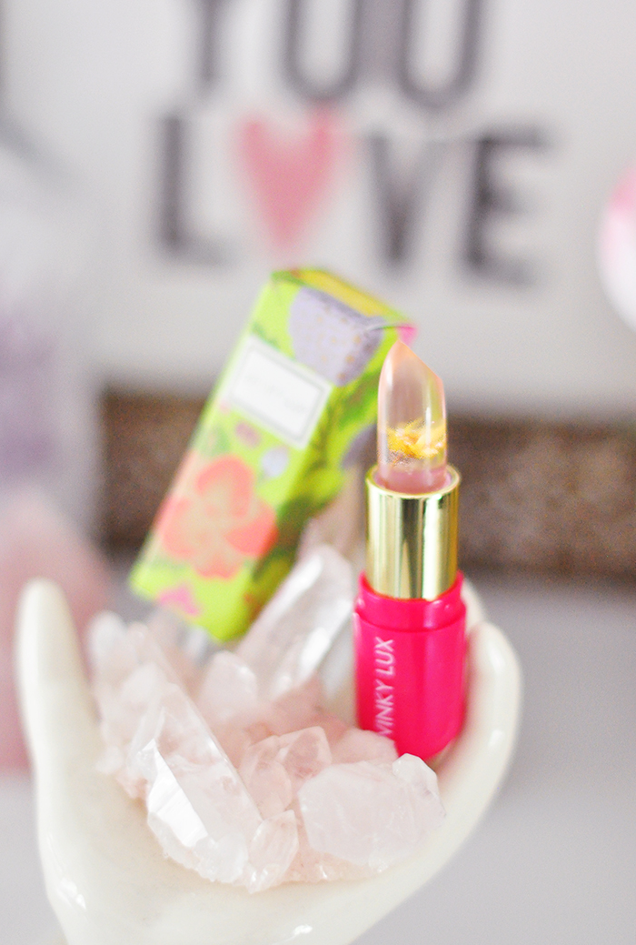 winky lux - flower lip balm stain - yellow