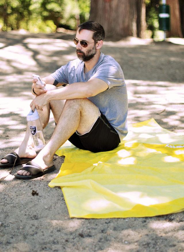 yellow vertty beach towel